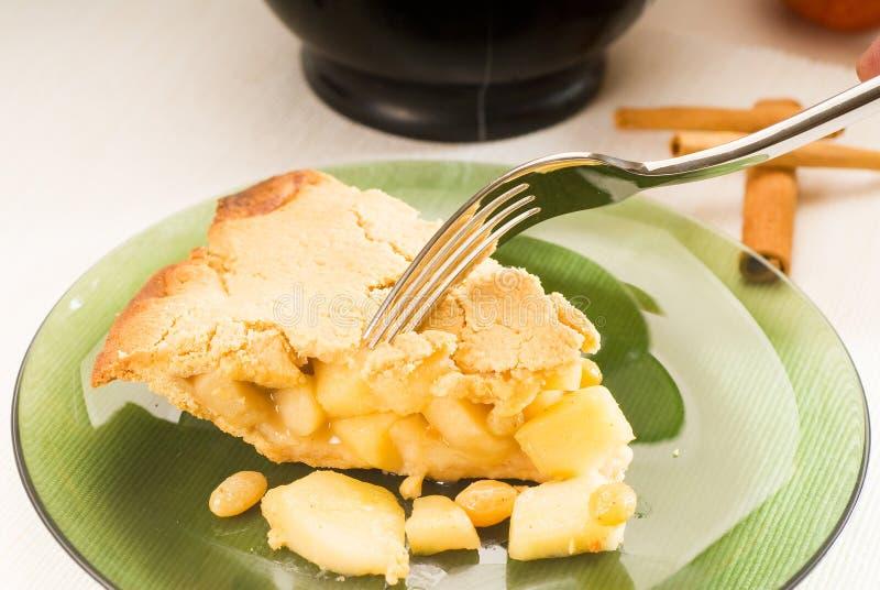 苹果新鲜的自创饼 免版税库存图片
