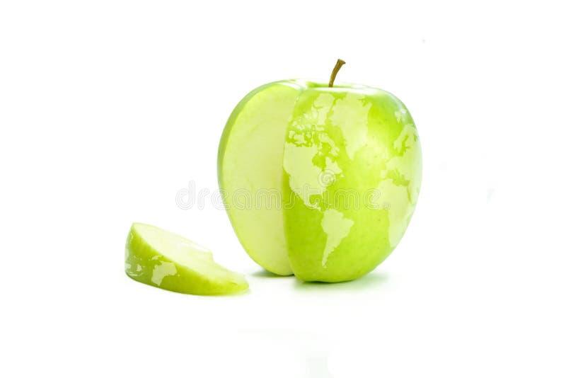 苹果映射世界 库存图片