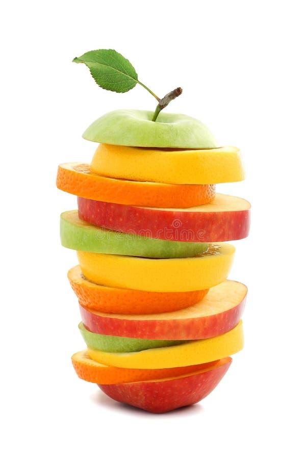 苹果果子柠檬混杂的桔子 图库摄影