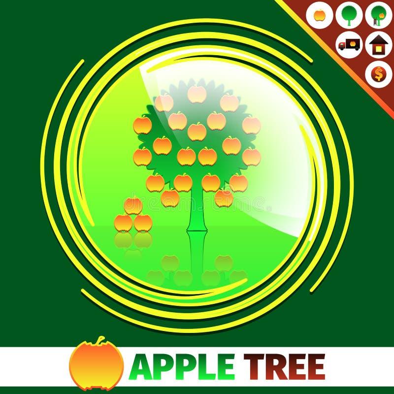 苹果树商标设计 皇族释放例证