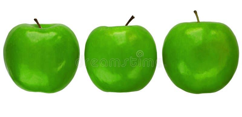苹果格兰尼史密斯苹果三 免版税库存图片