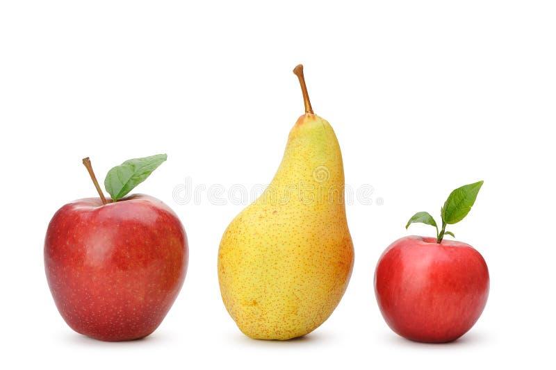苹果梨红色 库存图片