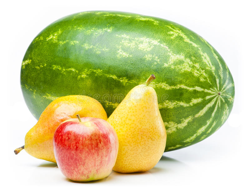 苹果梨西瓜 库存照片