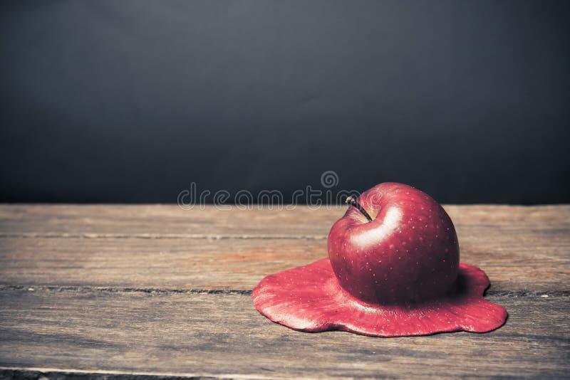 苹果楼层熔化 图库摄影