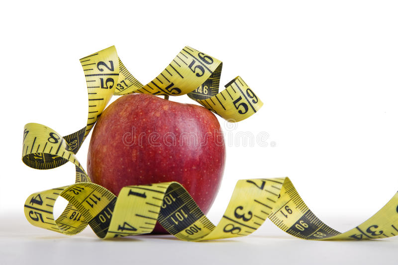 苹果概念饮食 免版税库存照片