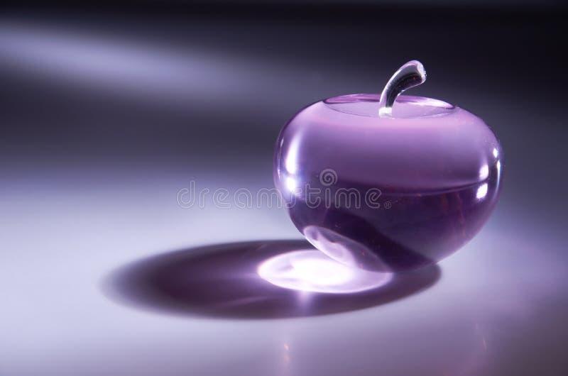 苹果水晶 免版税库存照片