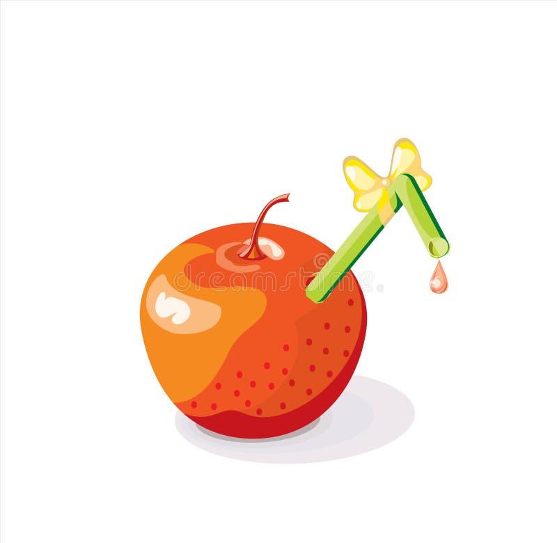 苹果汁向量 向量例证