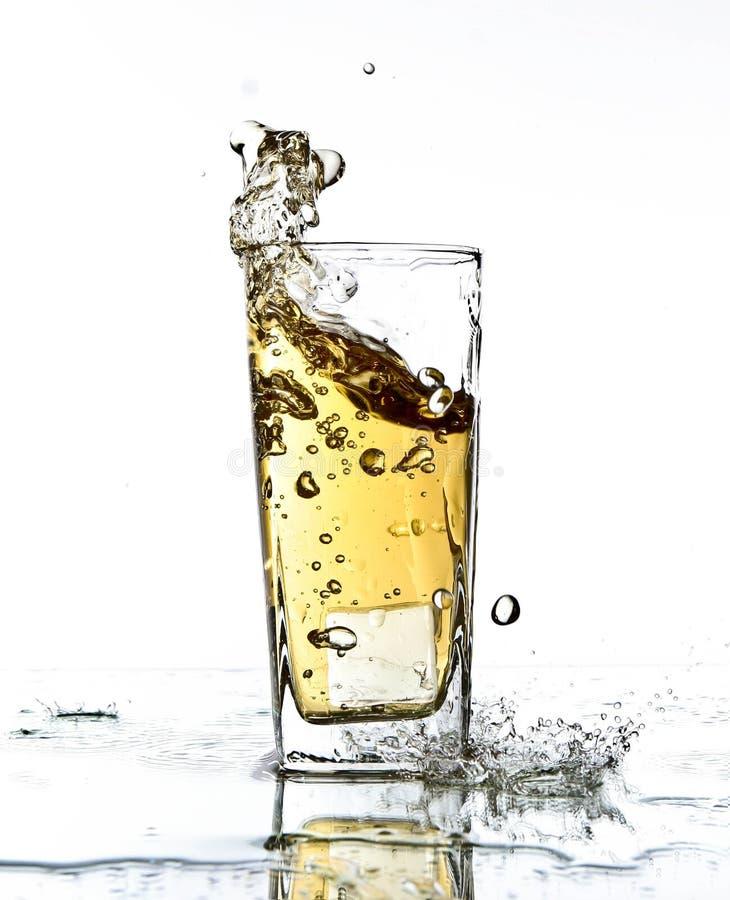 苹果汁飞溅 免版税图库摄影