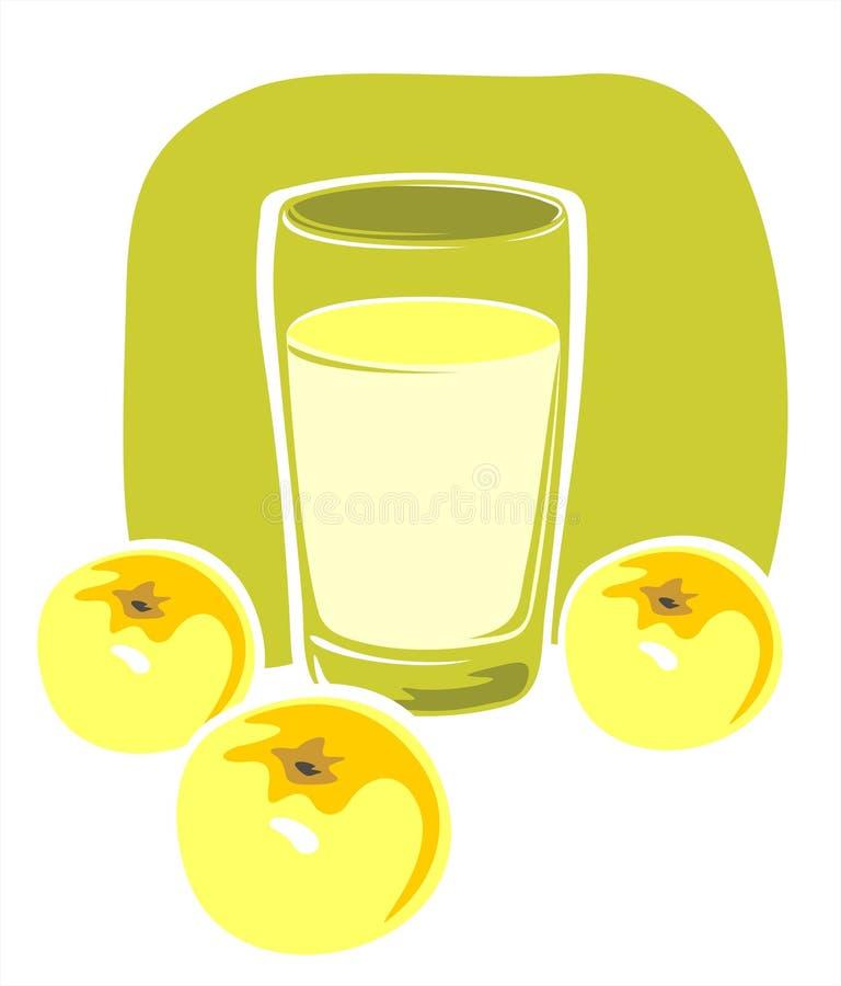 苹果汁 向量例证