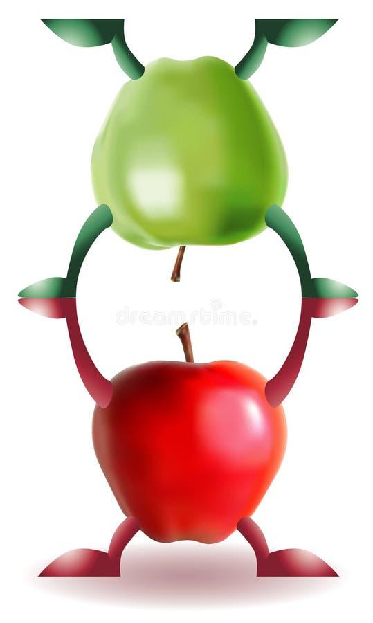苹果滑稽二 向量例证