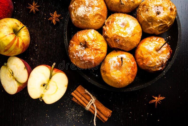 苹果烘烤用糖 库存图片