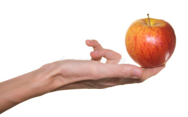 苹果现有量男性红色 免版税库存照片