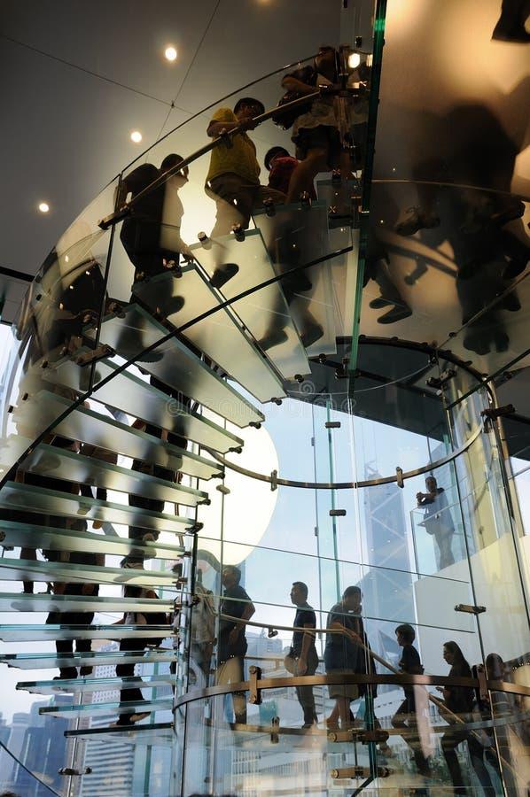 苹果玻璃台阶存储 免版税图库摄影