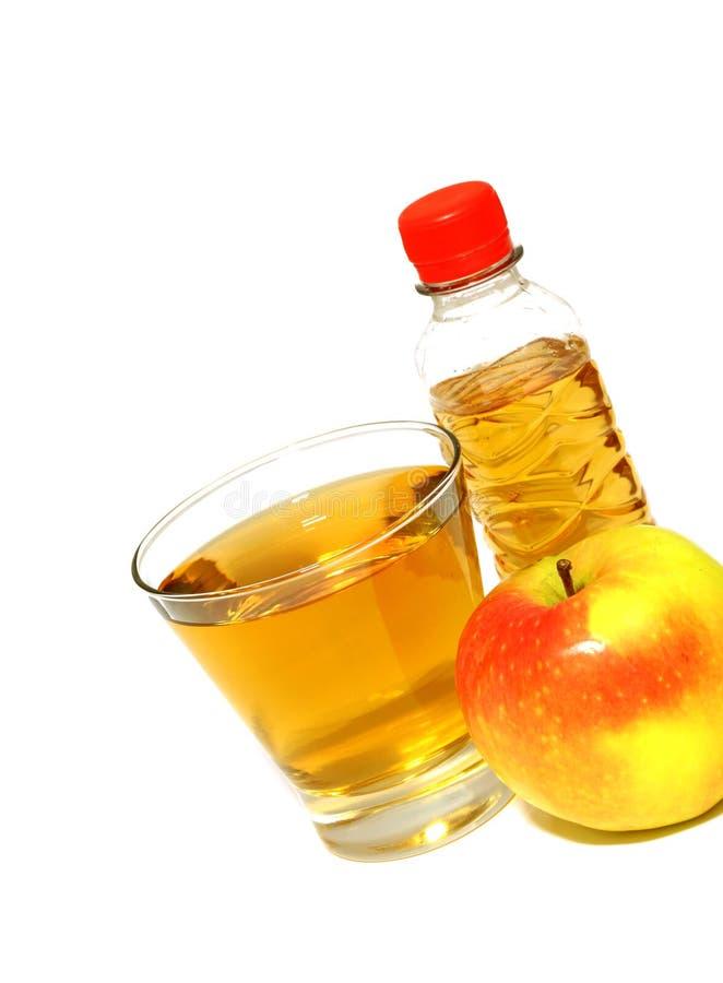 苹果瓶新鲜的玻璃汁液 免版税图库摄影