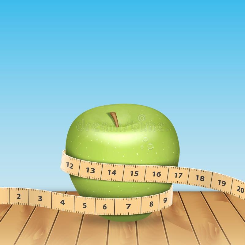 苹果生活评定体育运动磁带 库存例证