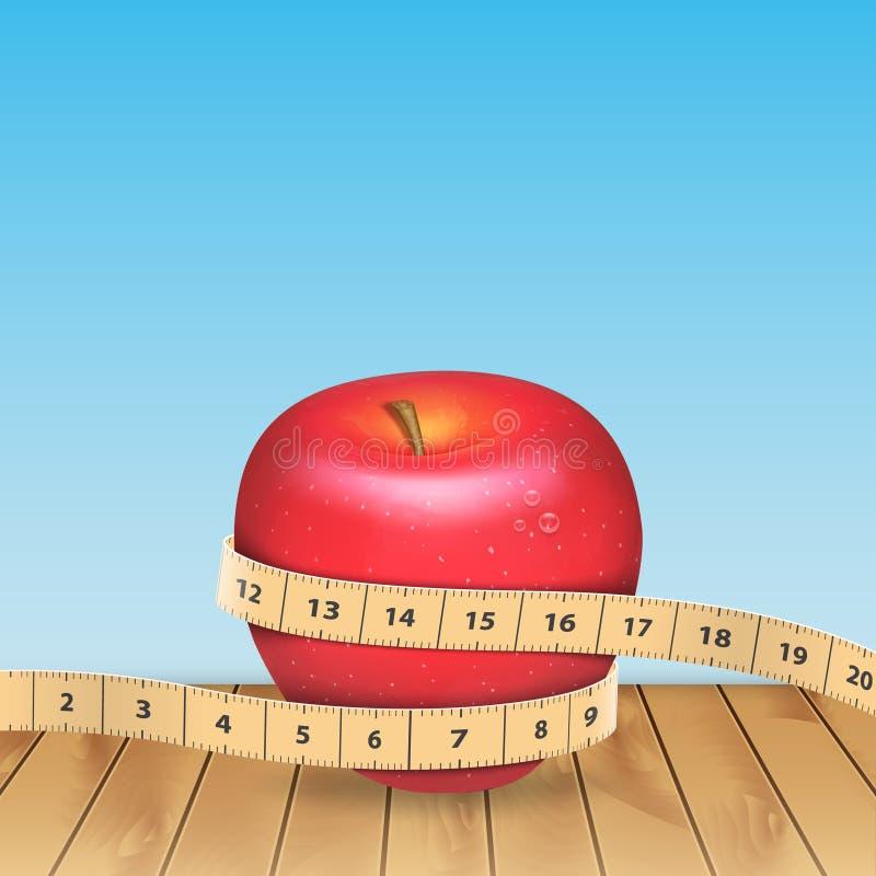 苹果生活评定体育运动磁带 向量例证