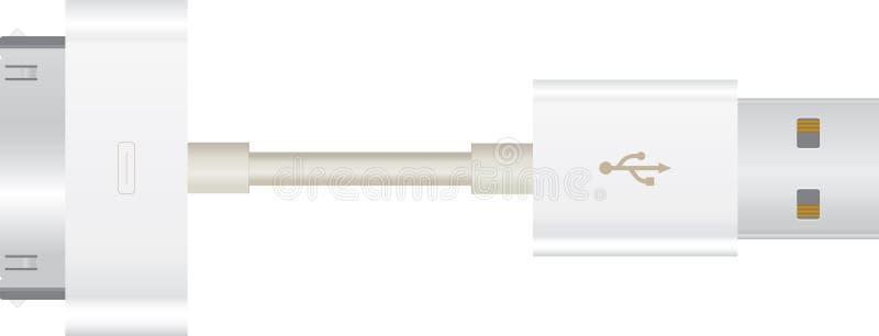 苹果电缆usb 库存例证