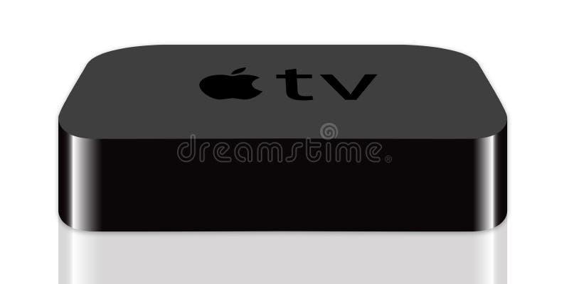 苹果电视 皇族释放例证