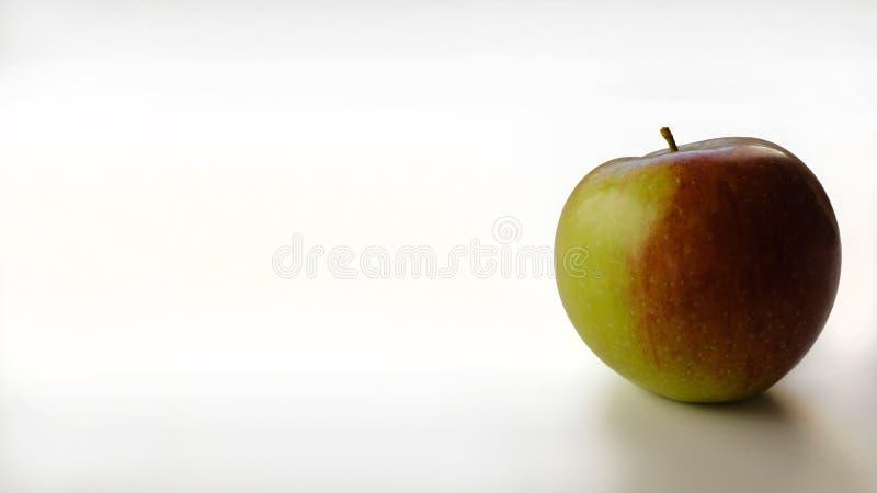 苹果白色的背景关闭 库存图片