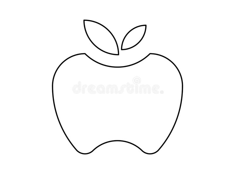 苹果的例证 库存例证