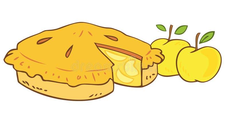 苹果祖母s馅饼 皇族释放例证
