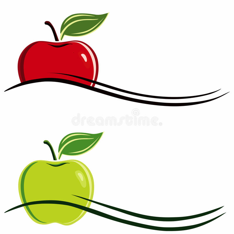 苹果符号 库存例证