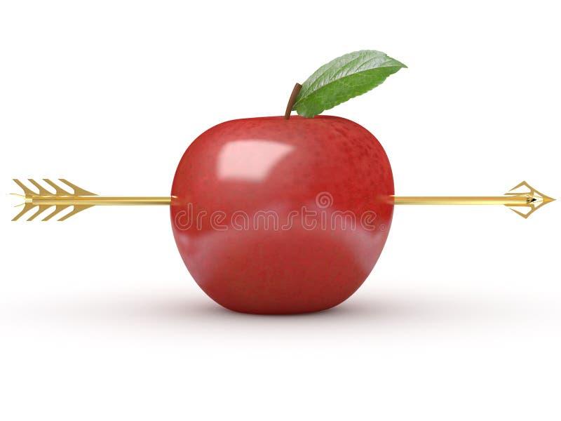 苹果箭头 皇族释放例证