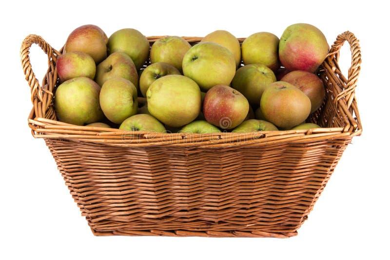 苹果篮子在股票的 库存图片