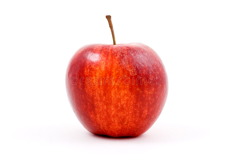 苹果红色白色 库存照片