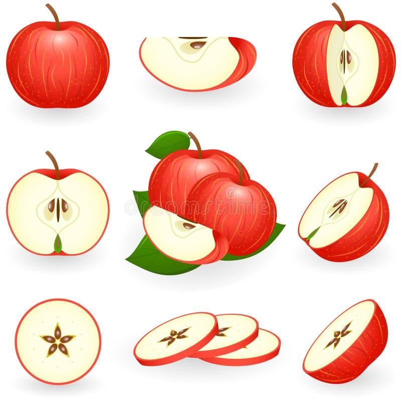 苹果红色 皇族释放例证