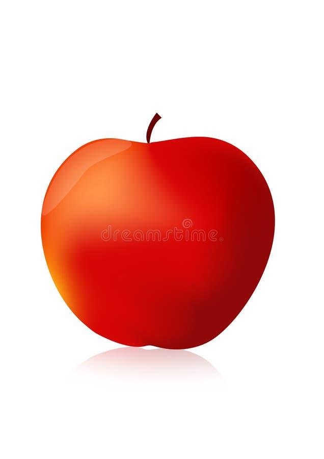苹果红色 向量例证