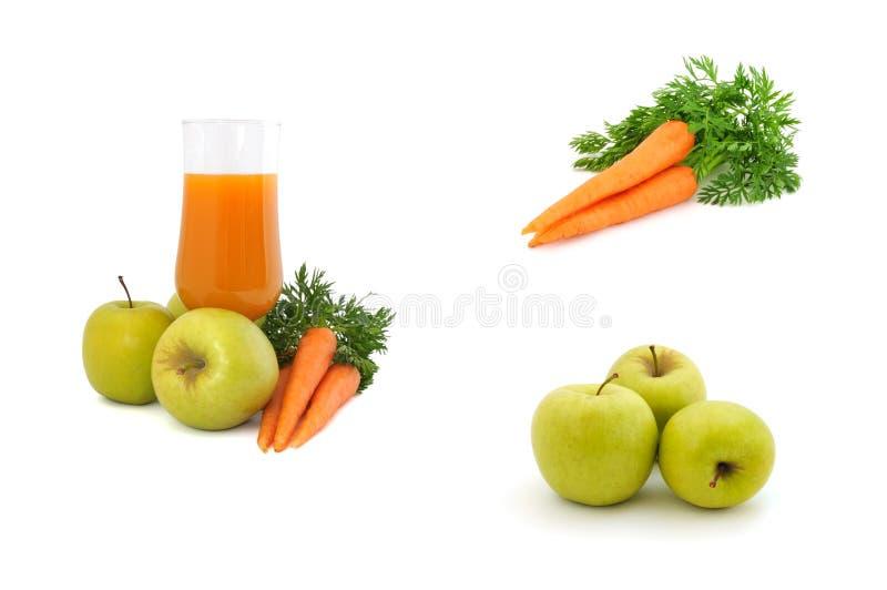 苹果红萝卜红萝卜汁 免版税库存图片