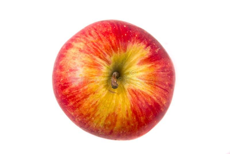 苹果红顶视图 免版税库存图片
