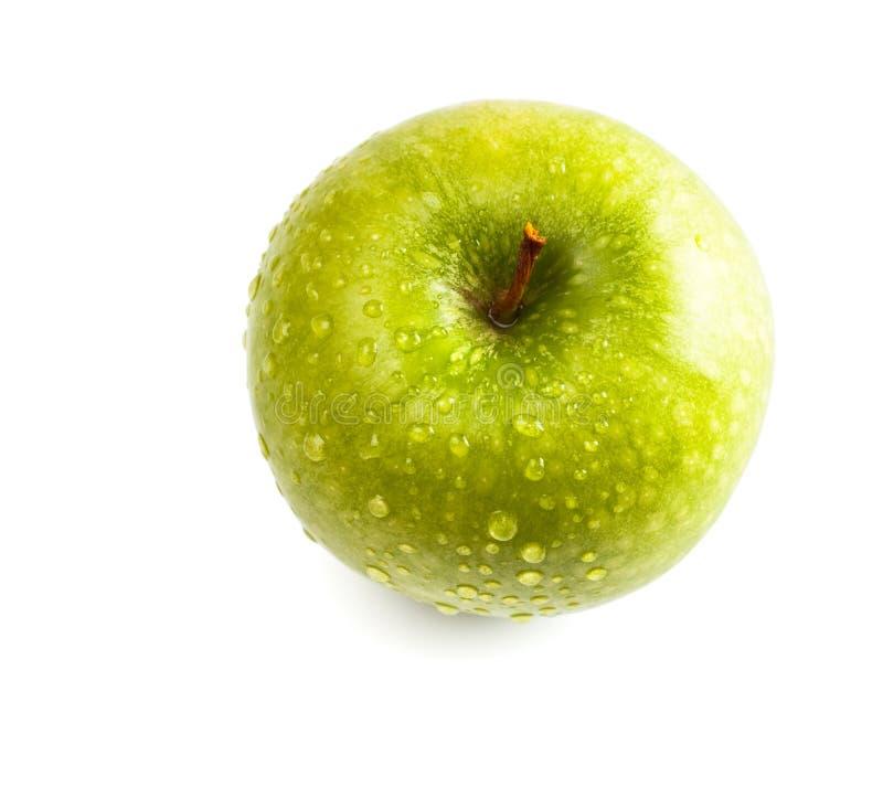 苹果绿弄湿 免版税库存照片