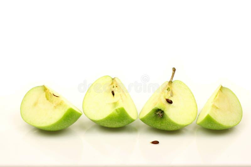 苹果绿的季度 库存照片