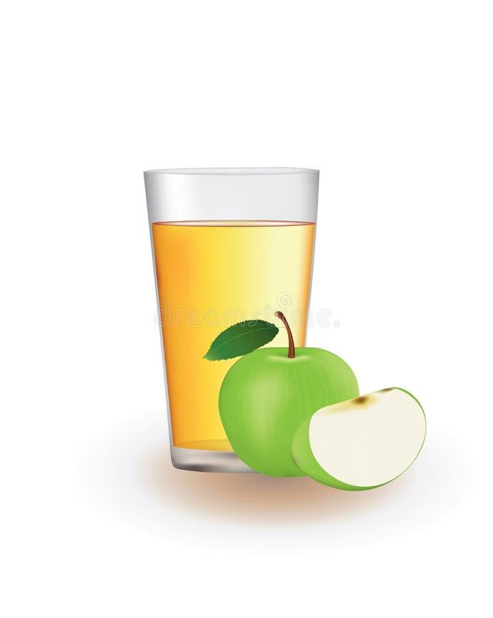 苹果绿的汁液 库存例证