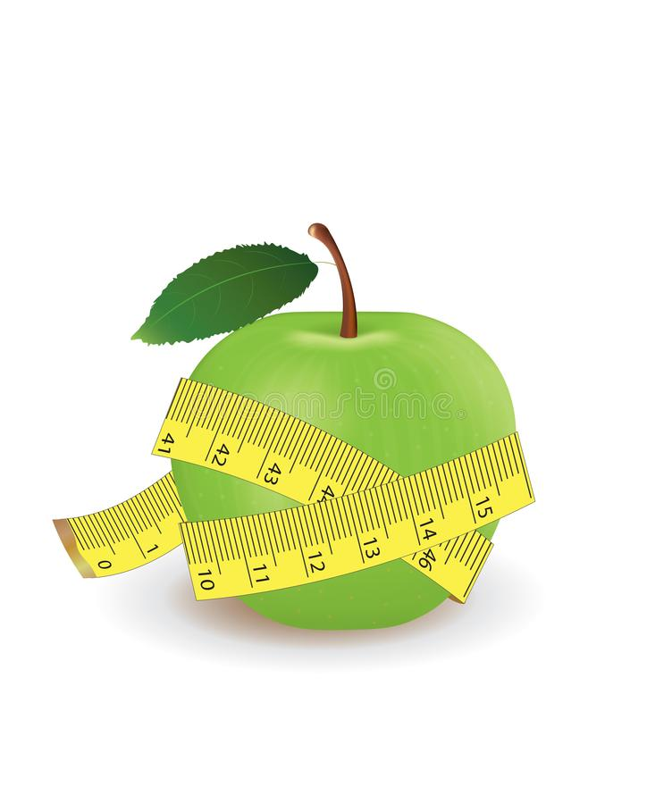 苹果绿的评定的磁带 皇族释放例证