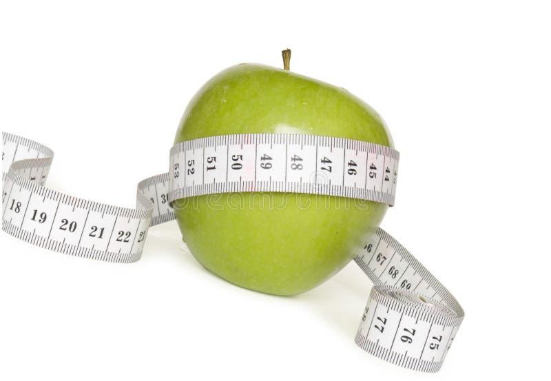 苹果绿的评定磁带 免版税库存图片