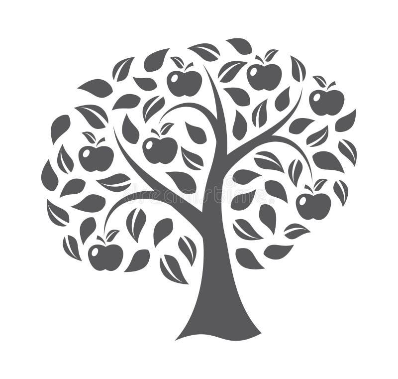 苹果美好的例证结构树向量 皇族释放例证