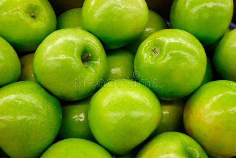 苹果老婆婆橡皮防水布 库存照片