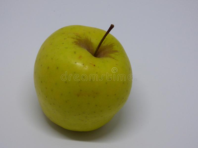 苹果背景绿色白色 免版税库存图片