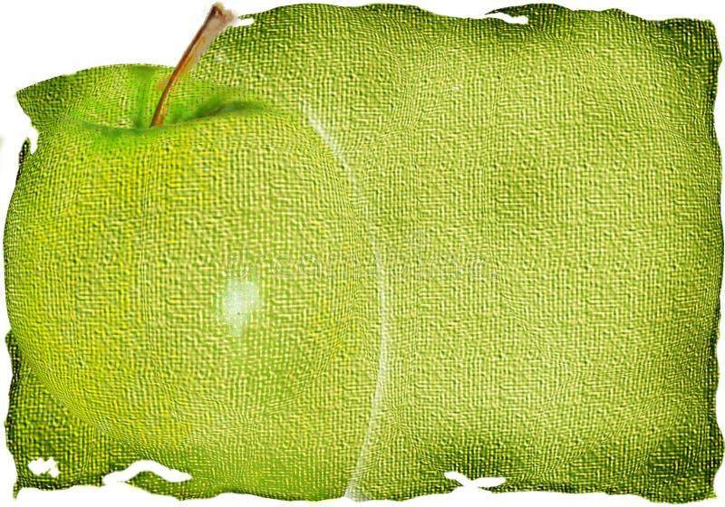 苹果背景绿色纹理 库存例证