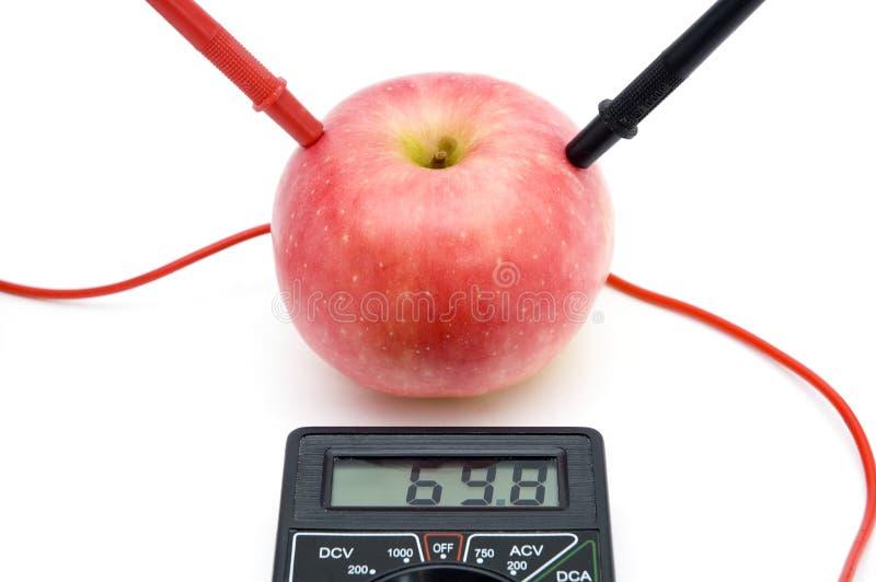 苹果能源红色 库存图片