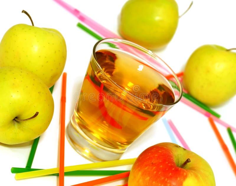 苹果苹果新玻璃汁白色 免版税库存照片