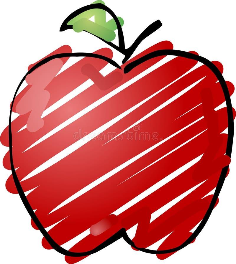 苹果草图 库存例证