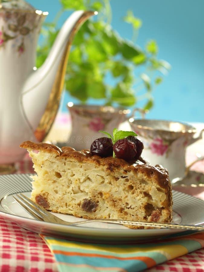 苹果蛋糕点心茶 库存图片