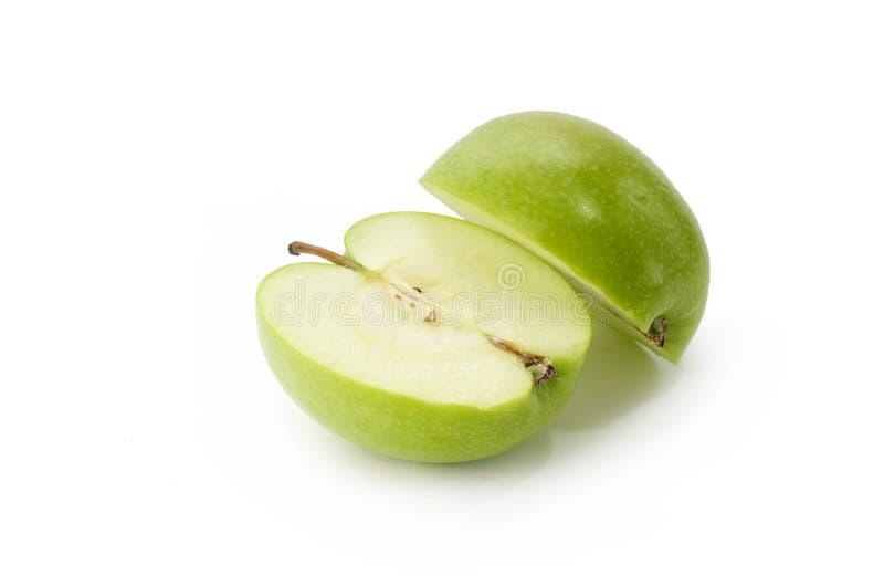 苹果被削减的绿色 库存照片