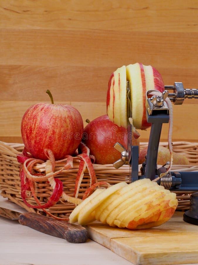 苹果计算机削皮器 库存照片
