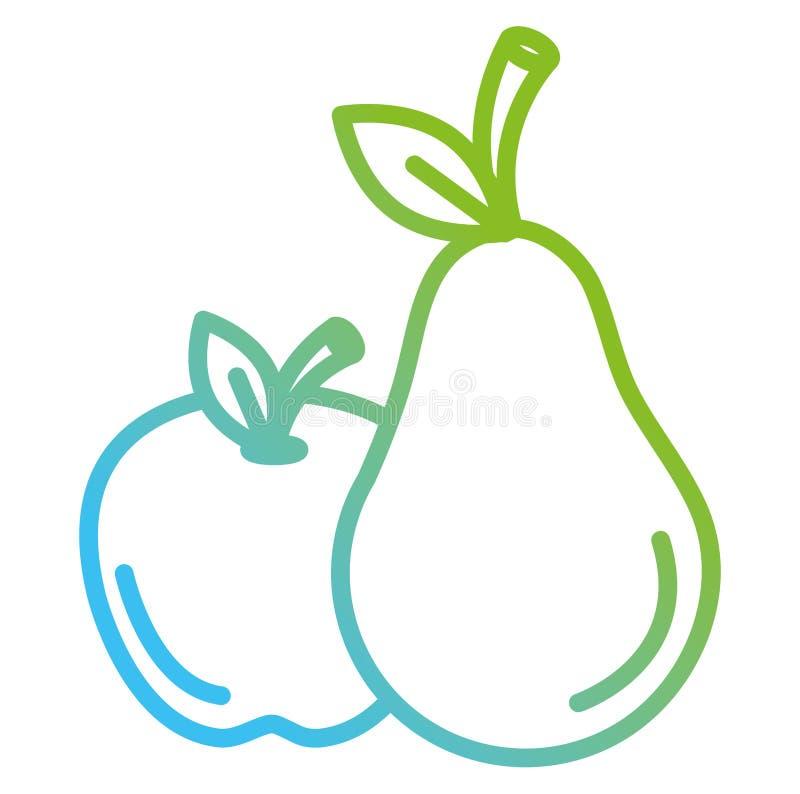 苹果计算机和梨新鲜水果 库存例证