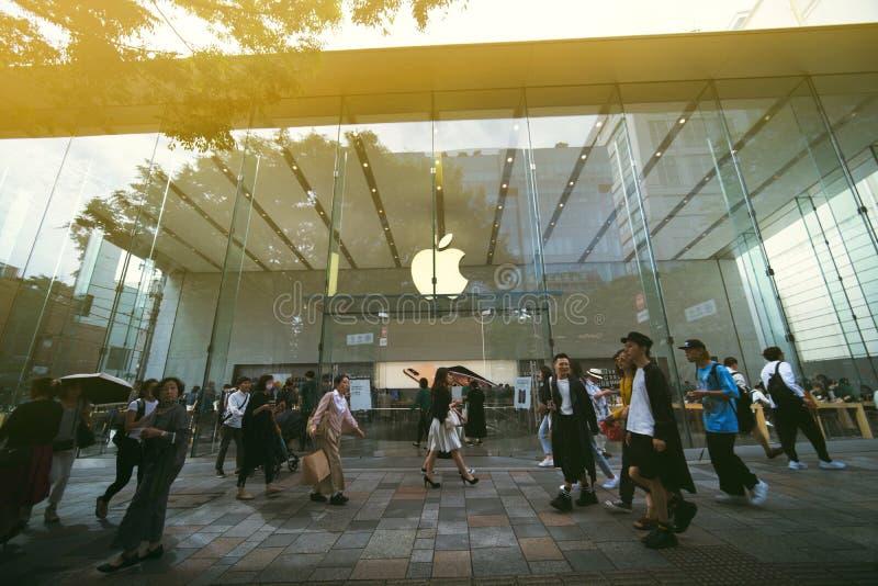 苹果计算机商店在东京 库存照片